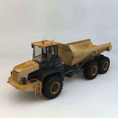 工程机械自卸车模型C4D 3DMAX OBJ CAD