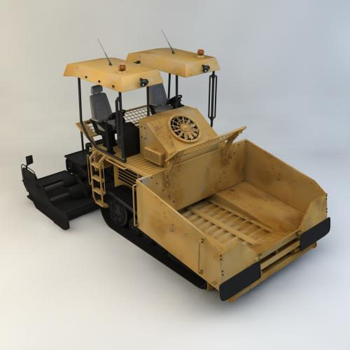 沥青摊铺机模型C4D 3DMAX OBJ CAD