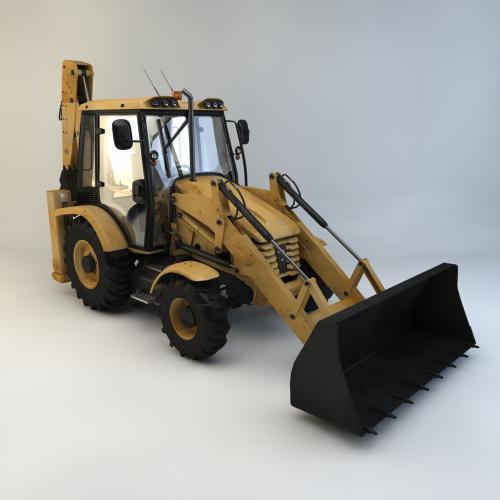 铲车装载机模型C4D 3DMAX OBJ CAD