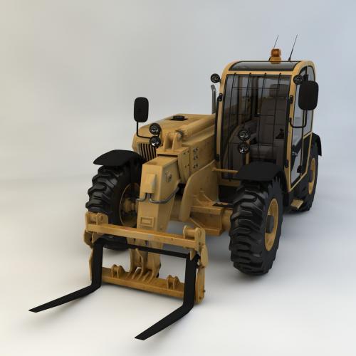 叉车模型C4D 3DMAX OBJ CAD