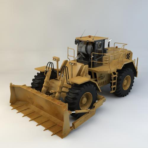 推土机模型C4D 3DMAX OBJ CAD