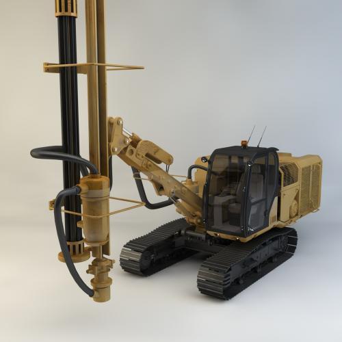 钻机钻井机模型C4D 3DMAX OBJ CAD