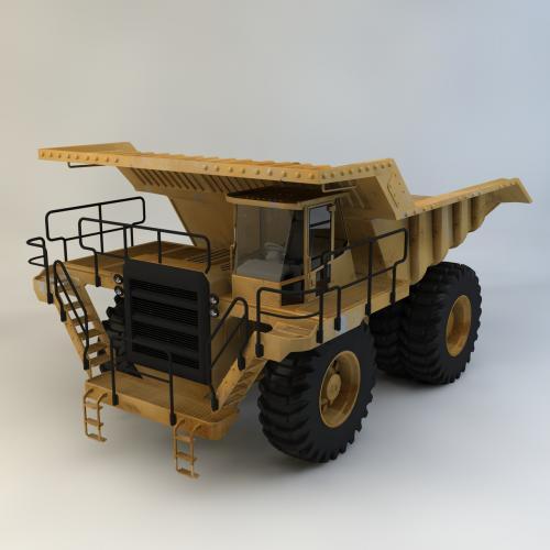 自卸车煤矿车C4D 3DMAX OBJ CAD