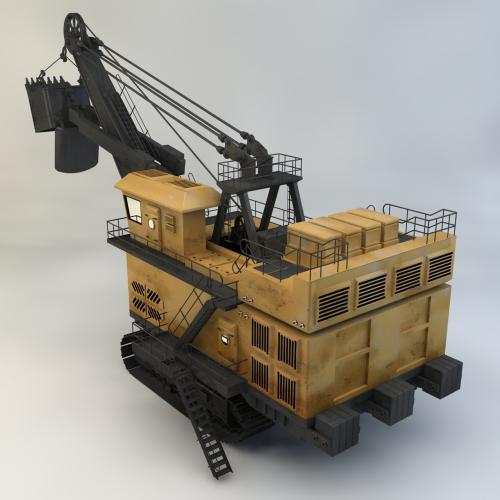煤矿装载机模型C4D 3DMAX OBJ CAD
