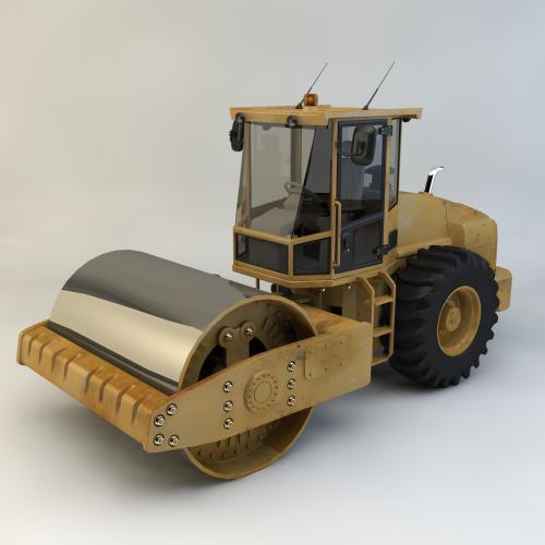 压路机模型C4D 3DMAX OBJ CAD