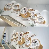 宪法日法治楼梯文化墙CDR  3DMAX