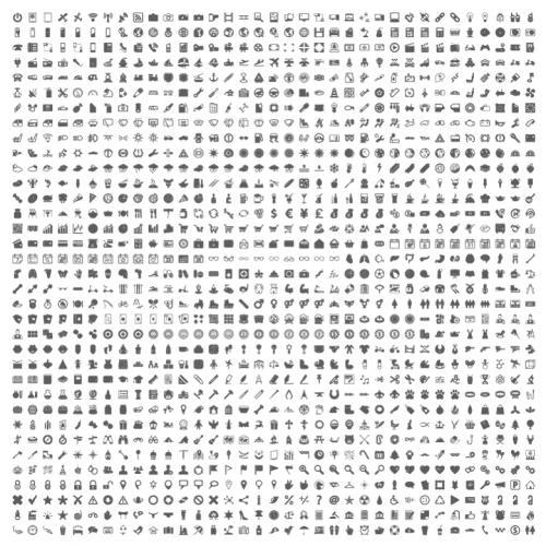 1255个常用APP图标矢量EPS格式AI和PSD都能打开免费下载