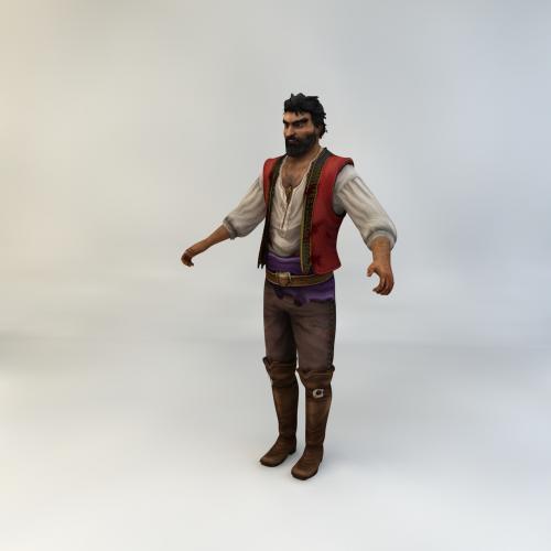 游戏男性PNG角色模型3DMAX C4D