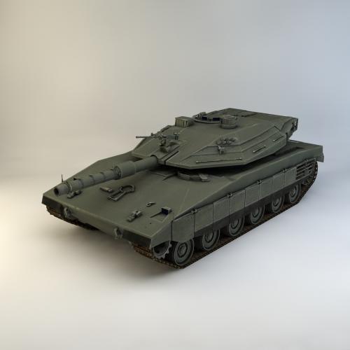 游戏坦克模型C4D 3DMAX