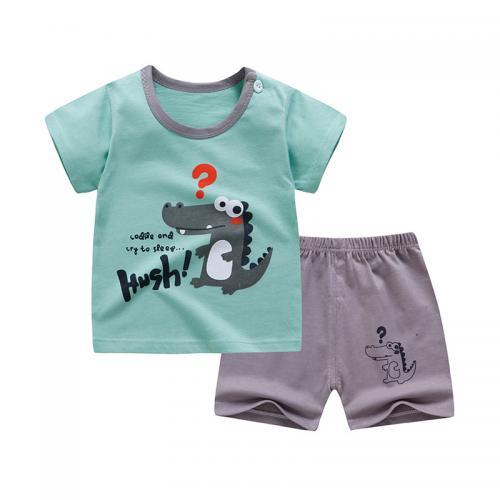 2020新款男童装T恤儿童短袖短裤套装