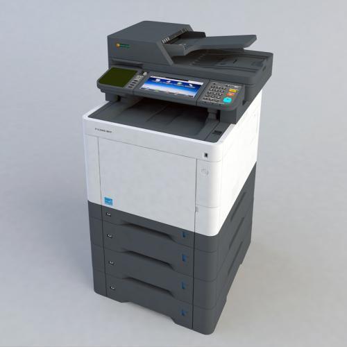 打印机 复印机外观SU C4D