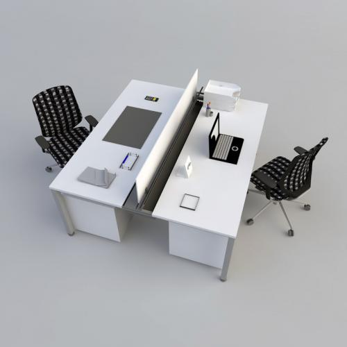 办公桌SU C4D