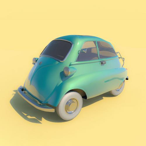 卡通小球车 C4D