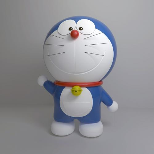 哆啦A梦 机器猫 叮当猫 C4D