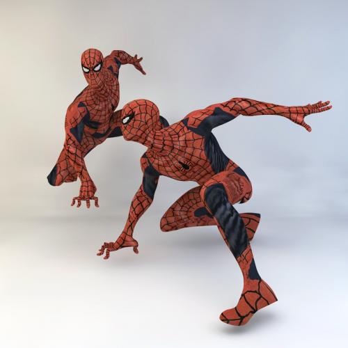 蜘蛛侠 3DMAX C4D