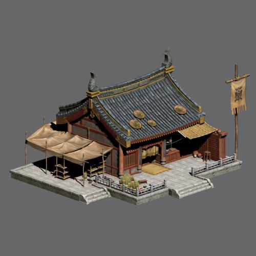 游戏 复古药铺场景 3DMAX