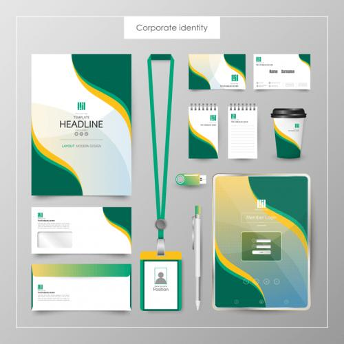 绿色健康品牌VI作品EPS
