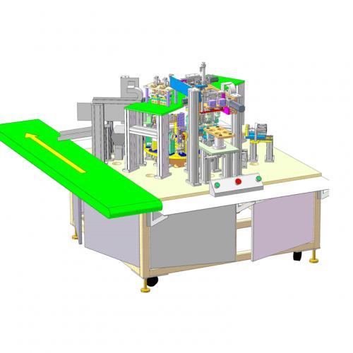 工业机械设计电动牙刷手柄自动装配机sw