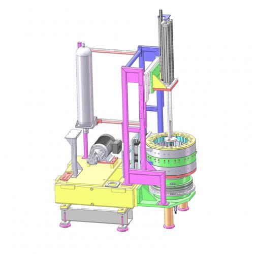 工业机械设计电机组装机SW源文件