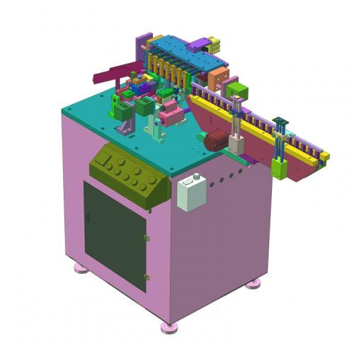 工业机设计电容全自动剪脚弯脚成型一体机SW