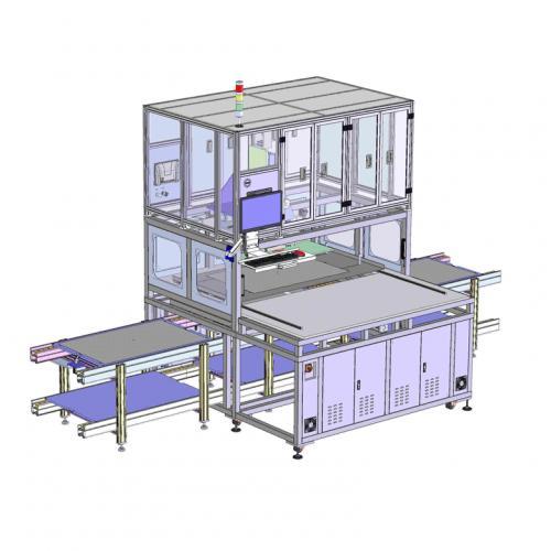 工业机设计电视贴偏光片设备sw
