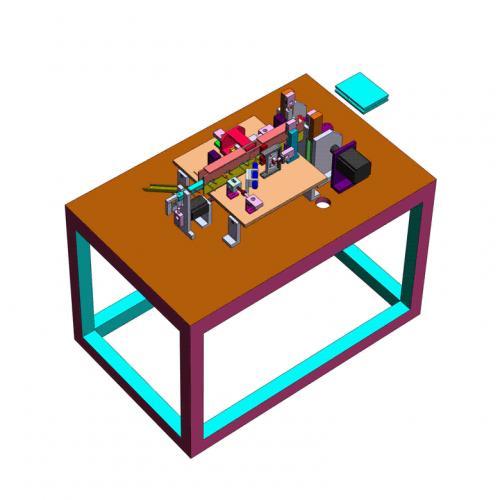 工业机械设计 二极管套磁环剪脚成型排出一体式结构设备SW