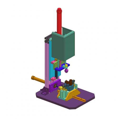 工业机械设计阀体组装机SW