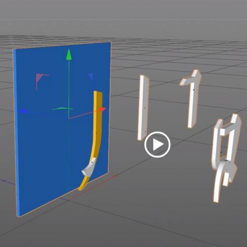 二维批量转三维 C4D插件含色值 可与AI互联