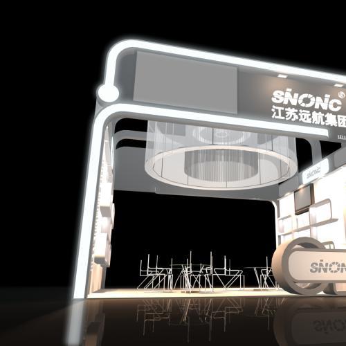 白色简约展厅设计3DMAX