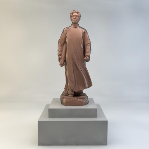 青年毛主席雕塑3DMA C4D