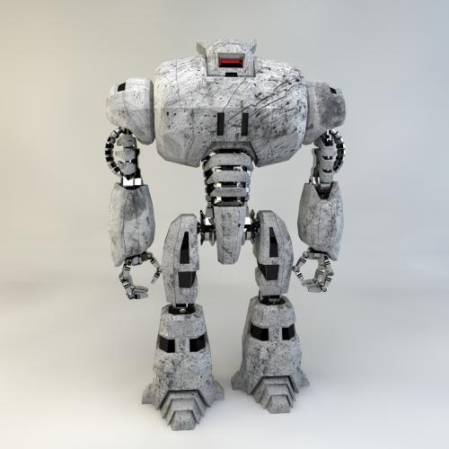机器人模型 3DMAX  C4D