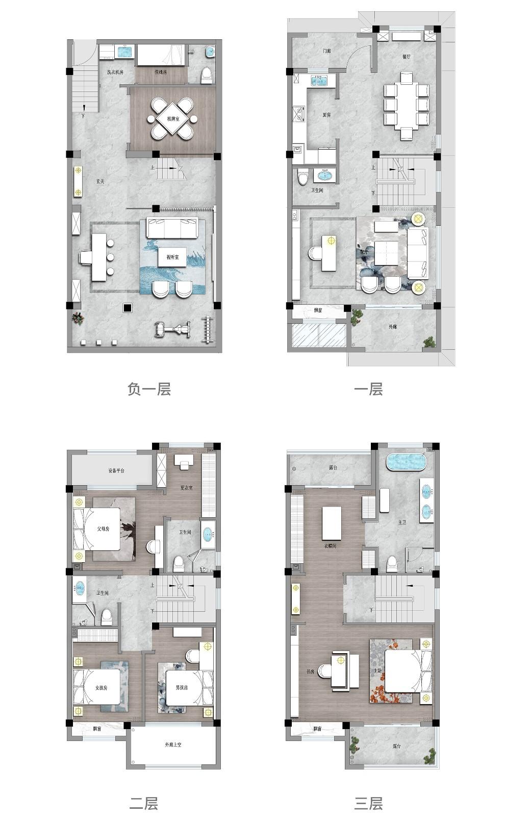 273㎡新中式别墅